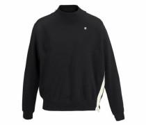 Sweatshirt 'Ustra' schwarz / weiß