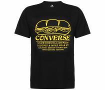 T-Shirt 'Sandwich Shop' schwarz / gelb