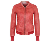 Lederjacke aus der Sophia Thomalla Kollektion rot