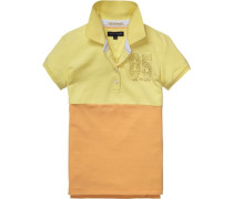 Polo »Colorblock Polo S/s« pastellgelb / apricot