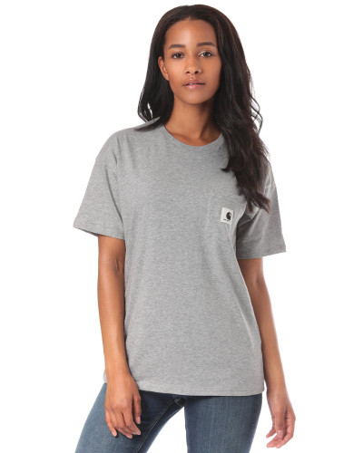 Carrie Pocket T-Shirt grau