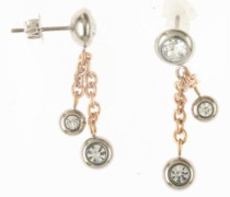Paar Ohrhänger rosegold / silber