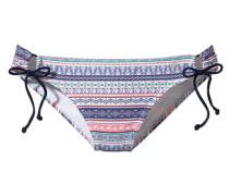 Bikini-Hose marine / türkis / hellrot / weiß
