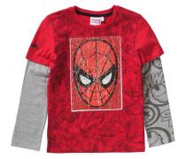 Spider-Man Langarmshirt grau / rot
