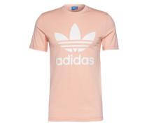 T-Shirt mit Rundhalsausschnitt rosa