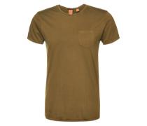 T-Shirt mit Brusttasche grün