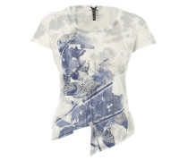 Shirt mit transparenten Durchbrüchen grau