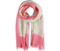 Baumwoll-Leinen-Schal 'Lungro' pink / naturweiß