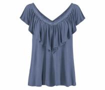 Strandshirt mit Volant blue denim