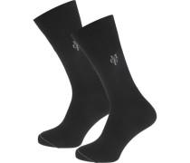 Larsen 2 Paar Socken schwarz