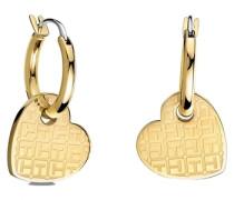 Paar Creolen mit abnehmbaren Herzeinhängern »Classic Signature 2700727« gold