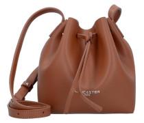 'Pur Smooth Mini Bag' Beutel Umhängetasche Leder 17 cm braun