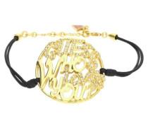 Armband Texil Schwarz/Gold Ubb12202 gold / schwarz