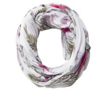 Schlauch-Schal khaki / pink / weiß