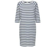 Gestreiftes Kleid mit kurzen Ärmeln blau / weiß