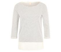 Pullover mit Streifen weiß