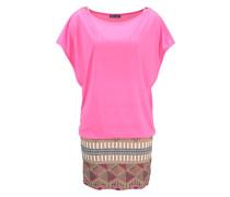 2-in-1-Kleid beige / blau / pink