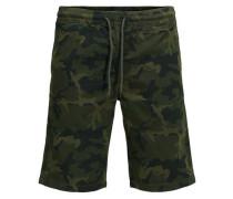 Cargoshorts Army-Print- grün