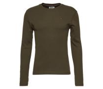 T-Shirt 'tjm Original 1X1 RIB CN Knit L/S 41' dunkelgrün
