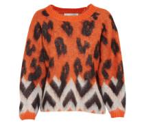 Pullover grau / orange