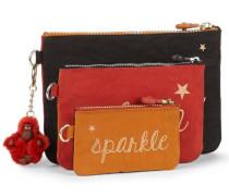 'Iaka' Taschen 3-tlg. orange / rot / schwarz