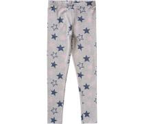 Leggings Sterne für Mädchen grau