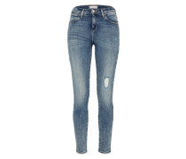 Skinny-Jeans als High-Rise blue denim