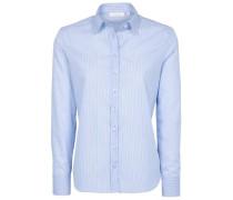 Langarm Bluse 'modern Classic' blau / weiß
