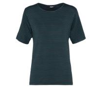 T-Shirt 'Suzy' dunkelgrün / schwarz
