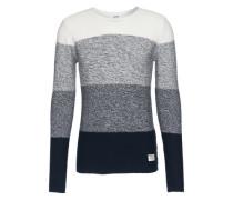 Pullover 'Gabhan' dunkelblau / grau / weiß