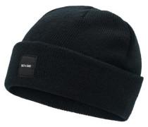 Strick-Mütze schwarz