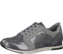 Sneaker mit Metallicakzenten grau / silber