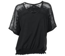 Spitzenshirt schwarz / transparent