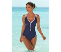 Badeanzug blau / weiß
