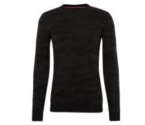 Pullover 'structured sweater' schwarz