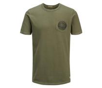 Lässiges T-Shirt oliv / tanne