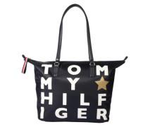 Shopper-Tasche 'poppy' navy / weiß