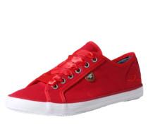 Sneaker mit Schnürsenkeln in Satin-Optik