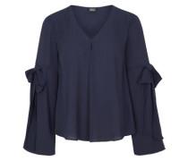 Bluse mit Schleifen-Details dunkelblau