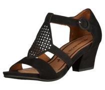 Sandalette mit Verzierung schwarz