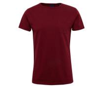 Shirt 'Ams Blauw 1 pocket tee in seasonal colours' weinrot