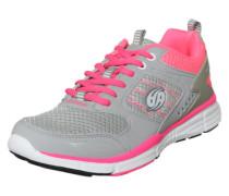 Sneaker mit Mesheinsätzen hellgrau / pink