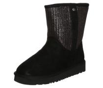 Rauleder-Stiefel 'Knit2' schwarz