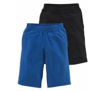 Sweatbermudas (Packung 2 tlg.) blau / schwarz
