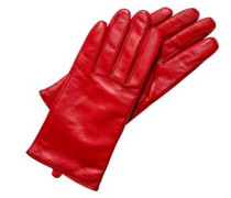 Lederhandschuhe mit Kaschmirfutter rot