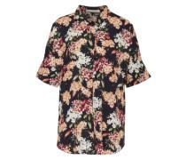 Bluse mit Blumenmuster dunkelblau / mischfarben