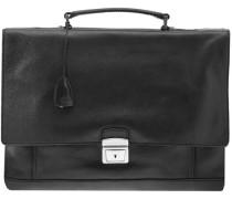 Artisan Uomo Schultertasche Shopper Leder 40 cm schwarz