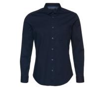 Uni Hemd 'Noos Solid LS' blau
