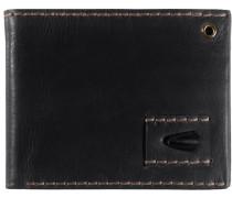 Geldbörse Leder 13 cm schwarz