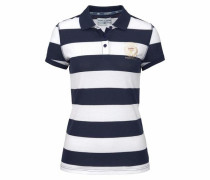 Poloshirt navy / naturweiß